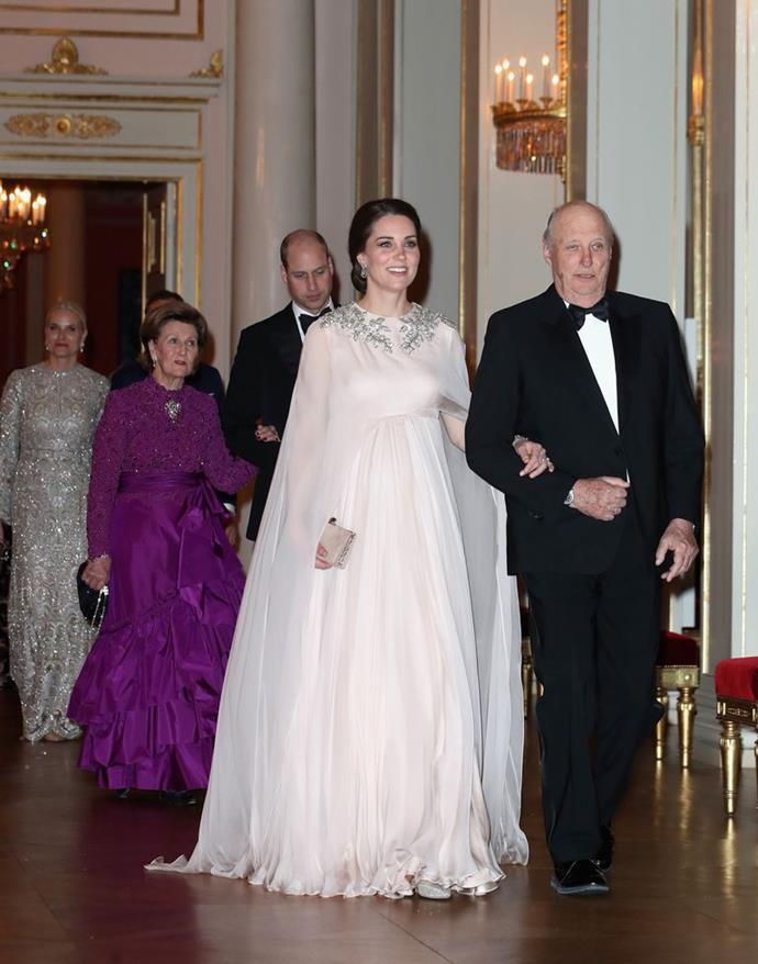 The Duchess of Cambridge in McQueen in Oslo