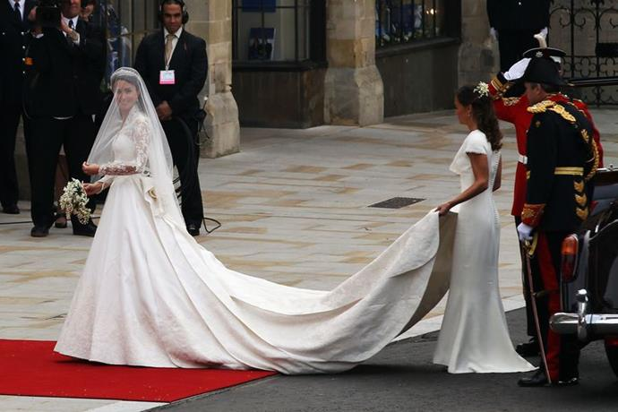 The Duchess in McQueen on her wedding day in April 2011