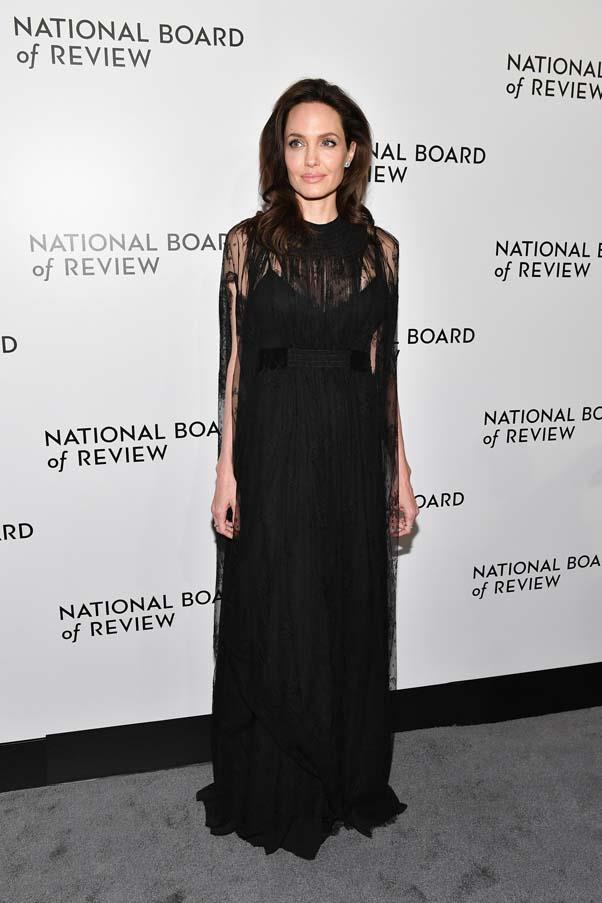 In Valentino at the National Board of Review Awards Gala in New York City, January 9th 2018.