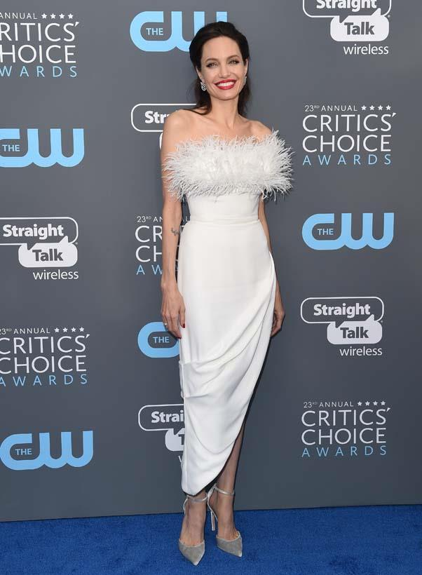 In custom Ralph & Russo at the Critics' Choice Awards, January 11th 2018.
