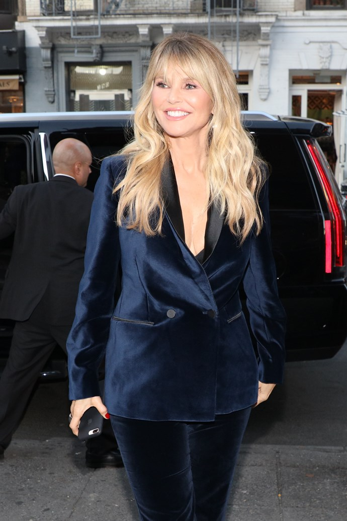 """**Christie Brinkley**<br><br>  Speaking to *Porter* magazine, Brinkley recalled a time in the late '80s when a """"smarmy"""" Donald Trump tried to ask her out, while she was dating Billy Joel and Donald was still was married to Ivana Trump. <br><br>  """"One day I was at the Plaza Hotel. My phone rings and this guy goes, 'Hey, Christie, it's The Donald.' I say, 'Hi, Billy,' because I was dating Billy [Joel] at the time,"""" she said. """"But the voice goes, 'No, no. It's The Donald!' So I say, 'What's up?' And he says, 'I hear you're leaving for Aspen tomorrow. I am too. I'd like to give you a ride on my private jet.' So I reply, 'Thank you, but I have already arranged my flights.' 'So cancel them!' was his response, and I say, 'No thank you. I'm going with friends.' I knew he was married, and there he was asking me to go on his plane. He was kind of flirty about it. He was out chasing skirts."""""""