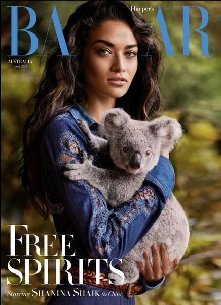 """**Shanina Shaik & Chip, April 2015**    **Tom Lazarus, chief subeditor**   Aside from Shanina's powerfully smouldering look paired with Chip the koala's unknowable animal gaze, I love the bold statement of Australianness, from the choice of cover stars to the dappled greens of the bush backdrop that make the indigo dress pop so vividly, to the cover lines (""""Home & Away""""; """"Quentin Bryce""""). Also, the way Shanina is holding Chip exactly as you would a six-month-old, tenderly and protectively. You instantly get that it's Australia, and that Shaik is the new face of modern Australian beauty. A definite moment.    **[Alexandra English, deputy chief subeditor](https://www.instagram.com/alexxiii/