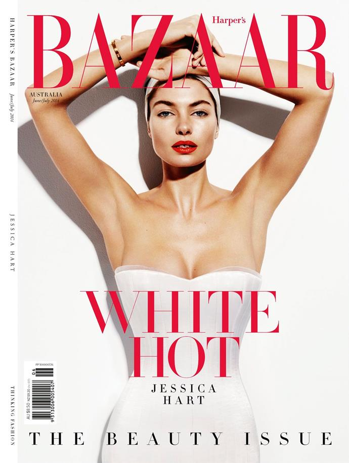 "**Jessica Hart, June/July 2014**     **[Clare Maclean, fashion features director](https://www.instagram.com/clare_m_maclean/|target=""_blank"")**    The lighting and beauty look on this cover feels fresh but it's also so classically *BAZAAR* in style.    **Huw Reynolds, creative director**    Elegant sophistication. A timeless, classic BAZAAR cover."