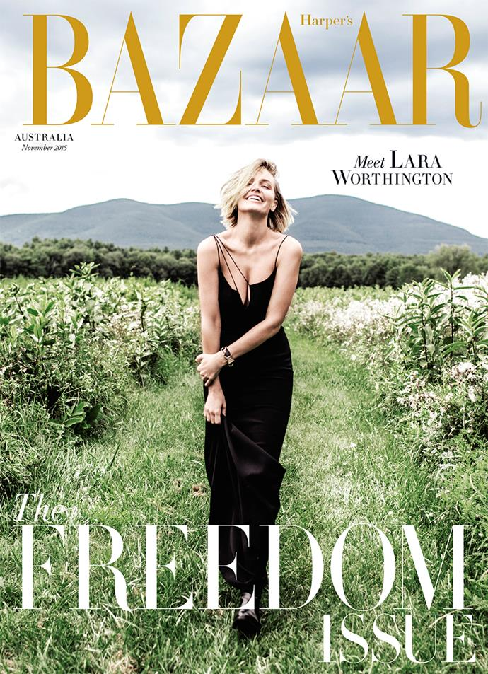 "**Lara Worthington, November 2015**    **[Grace O'Neill, digital fashion editor](https://www.instagram.com/grceoneill/?hl=en|target=""_blank"")**   Our first Lara Worthington cover was the first issue of *BAZAAR* I worked on, and I was just blown away by it – Karla Clarke and Russell James created such stunning images. The subscriber cover is among my favourite magazine covers ever. I literally went and got the Lara bob the week it came out."