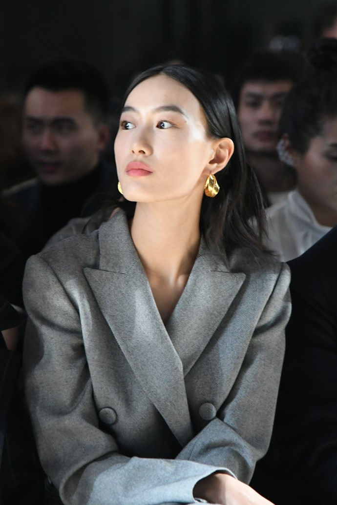 Chinese supermodel Shupei at Comme Moi's spring summer '18 show in Shanghai.