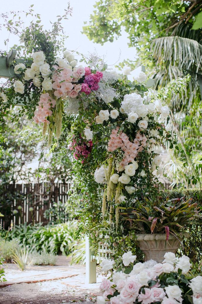 **On the significance of the location: **Banjo's mum had the most beautiful garden and it was always the place we wanted to get married. It was so nice having that personal connection to the venue. Also, not having to ship off our guests to the next location was a big plus for us.