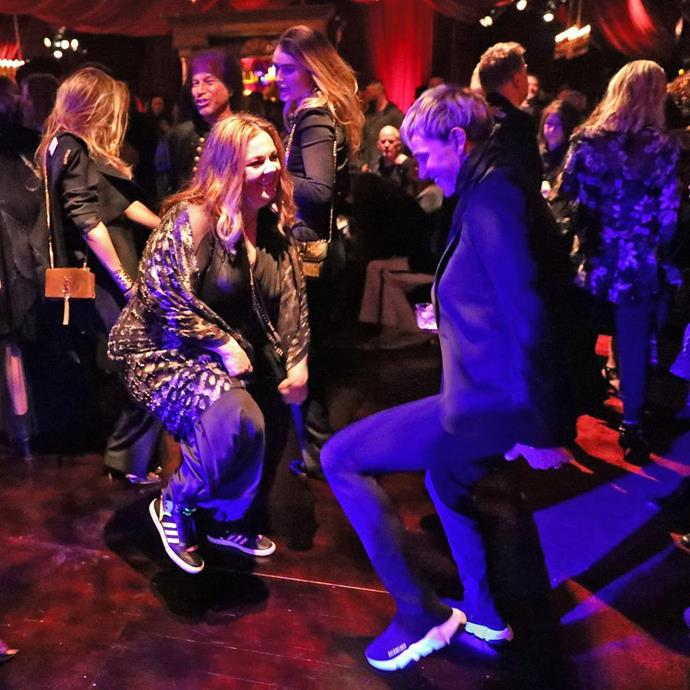 Ellen DeGeneres and Melissa McCarthy cut some shapes on the dancefloor.