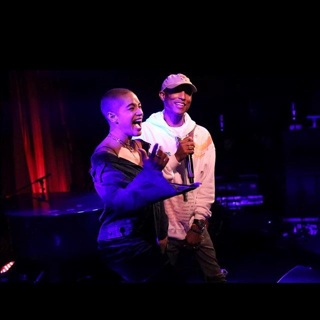 """Thank you @Pharrell for making my birthday so special. And of course the amazing @mettenarrative."""