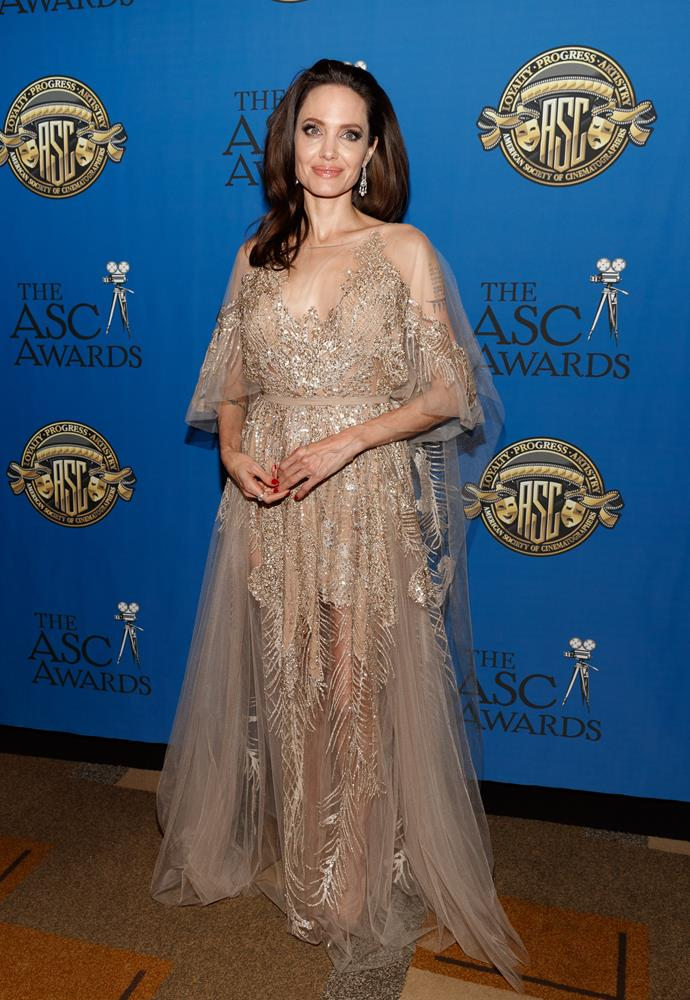 In Elie Saab Couture at the American Society of Cinematographers Awards, February 18th 2018.