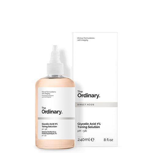 "**Glycolic Acid 7% Toning Solution, $14.50 at [The Ordinary](http://theordinary.com/product/rdn-glycolic-acid-7pct-toning-solution-240ml?redir=1|target=""_blank"").**  <Br><br> The primary ingredient in this toner is the tried-and-tested glycolic acid. The Ordinary's Glycolic Acid 7% Toning Solution is a chemical exfoliant that improves the clarity and texture of the skin, while also combatting blackheads, whiteheads and blemishes. <br>​<br> *Follow [**Bazaar Beauty on Pinterest**](https://www.pinterest.com.au/bazaaraustralia/) for the best in skincare trends, treatments, products and more!*"