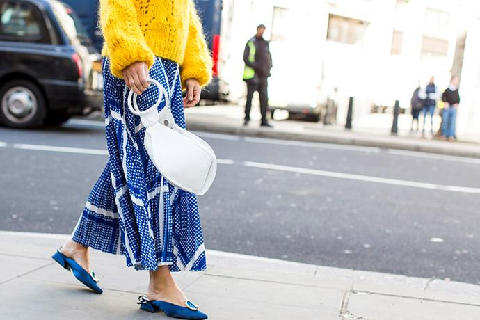 5. White Hot accessories<br><br> The fashion crowd have officially traded in black for white, with bright pops of ivory bringing a freshness to fashion month. Handbags by Céline and Off-White were crowd favourites. <br><br>  Image: Jason Lloyd-Evans