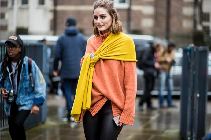 7. Bursts of yellow<br><br> Citrus tones are finding increasing relevance on the runway, so it's no surprise editors and A-listers opted for a subtle (or sometimes, not-so-subtle) injection of yellow.<br><br>  Pictured: Olivia Palermo<br><br> Image: Getty