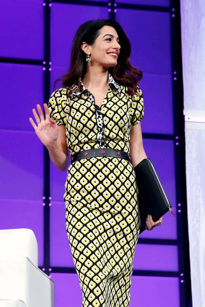 <strong>What:</strong> A Diane von Furstenberg dress and Givenchy heels<BR><BR> <strong>When:</strong> February 24th, 2018 <BR><BR> <strong>Where:</strong>At the Watermark Conference For Women in San Jose, California.