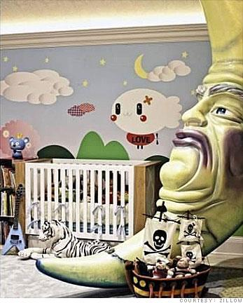 **Max Liron Bratman** <br><br> Christina Aguilera went all-out with her son Max's nursery, furnishing the room with a giant 11 foot moon statue from one of her tours and a custom Nintendo mural on the walls.