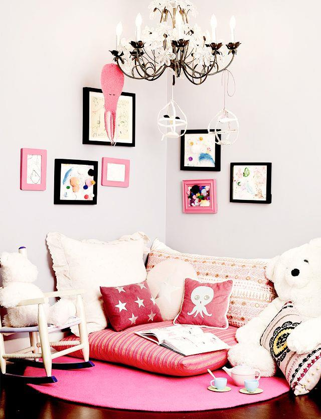 **Honour Marie Warren** <br><br> Jessica Alba's daughter's room looks tea-party ready with cushions and low-light fittings lending themselves to sleepovers.