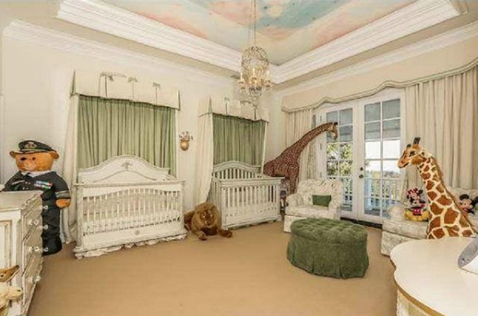 """**Monroe and Moroccan Scott Cannon** <br><br> Mariah Carey and Nick Cannon reportedly spent between $127,000 and $1.2 million on their twins nurseries in Bel Air. <br><br>  Decorated with human-size animal plush toys, custom $38,000 cribs and hand-painted """"orangey-pink clouds in a blue sky with golden stars twinkling,"""" [on the ceiling](http://www.lifeandstylemag.com/2011/04/mariah-carey-4-18-2011.html