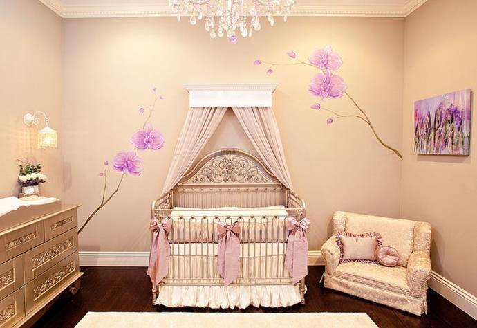 **Madison Brown** <br><br> Ex-Spice Girl Mel-B went for a princess-inspired design for her daughter Madison's nursery, with a chandelier, canopy-style cot, silk ribbons and handpainted flowers on the wall.