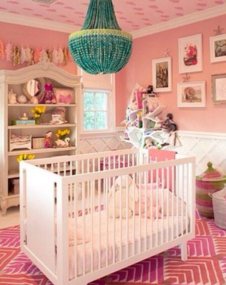 **Penelope Disick** <br><br> Kourtney Kardashian shared this image of daughter Penelope's nursery on Instagram, finished with mermaid-esque details like starfish cushions and decorations, along with sea shell picture frames.