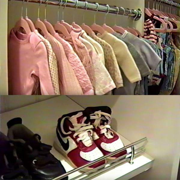 "**Stormi Webster** <br><br> As part of her baby video announcement, Kylie Jenner offered a sneak peek of Stormi Webster's nursery, which features a wardrobe filled with rows and rows of new designer baby clothes, including a pair of miniature high-top Nikes.  <br><br> ""[Kylie is] having a lot of fun picking out items for her baby,"" a source told [*People*](http://people.com/babies/kylie-jenner-pregnant-pink-baby-gear/