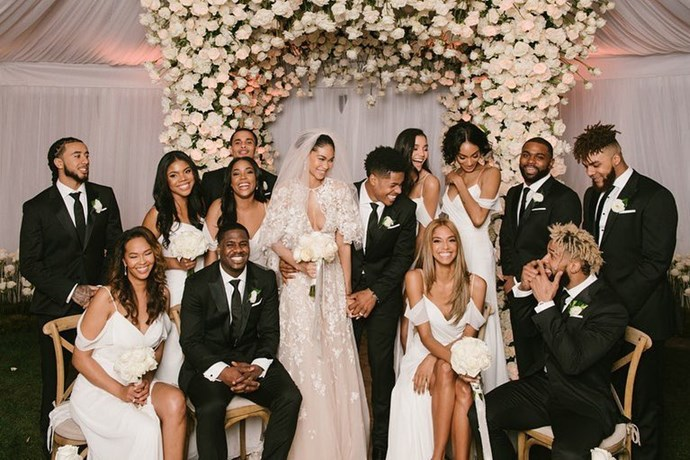 Chanel Iman's wedding to Sterling Shepherd. (Via Instagram)