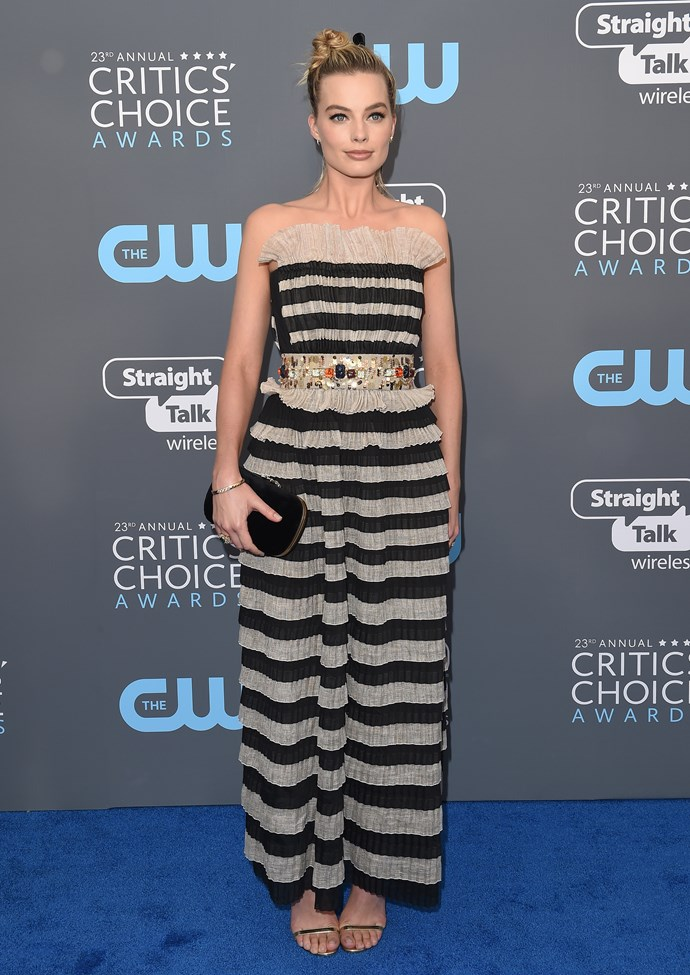 In Chanel at the Critic's Choice Awards