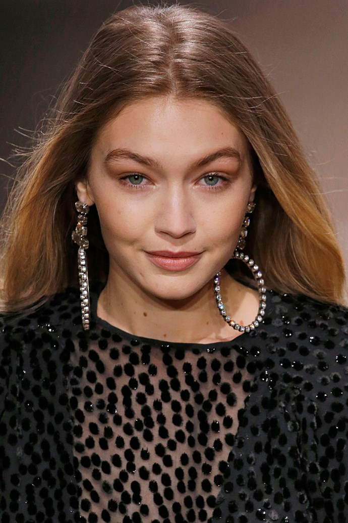 """**Gigi Hadid** <br><br> Hadid's go-to makeup artist, Patrick Ta, recently spilled on [some of his top travel tips](https://www.elle.com.au/beauty/gigi-hadid-patrick-ta-beauty-travel-tips-15680