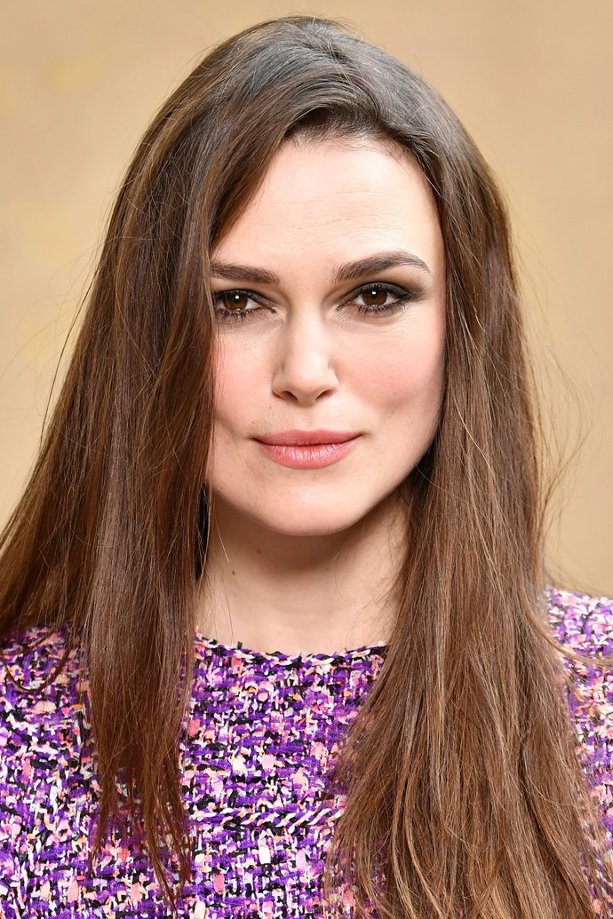 """**Keira Knightly** <br><br> While Keira Knightly isn't exactly keeping up with her regular regime in the air, there is one non-negotiable product she'll always apply. """"I have just discovered rosehip oil, which a friend of mine recommended,"""" Knightly told [*British Vogue*](http://www.vogue.co.uk/article/keira-knightley-beauty-interview