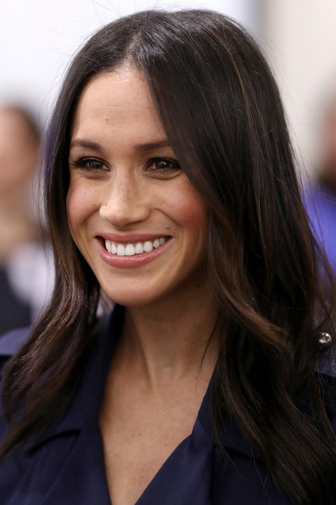 """**Meghan Markle** <br><br> While we know Markle will always include a [natural looking foundation](https://www.harpersbazaar.com.au/beauty/meghan-markle-favourite-foundation-makeup-15886