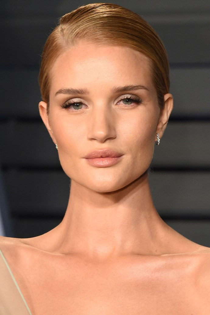 """**Rosie Huntington Whiteley** <br><br> According to [*People*](http://people.com/style/style-celebs-beauty-routines-the-products-they-really-use/rosie-huntington-whiteley/