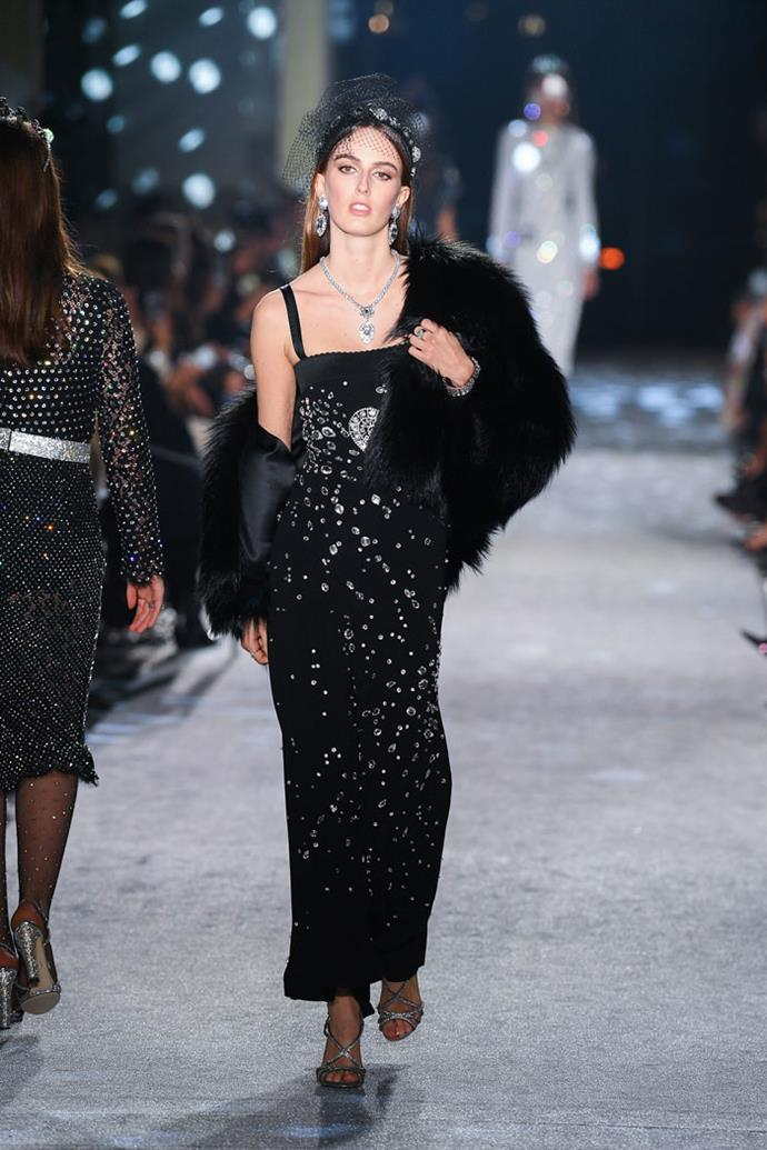 Lady Alice Manners (the middle daughter of the Duke and Duchess of Rutland), Dolce & Gabbana autumn/winter '18