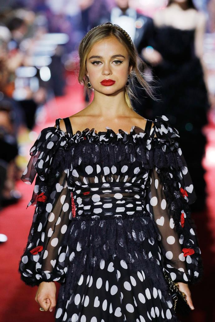 Lady Amelia Windsor, Dolce & Gabbana spring/summer '18