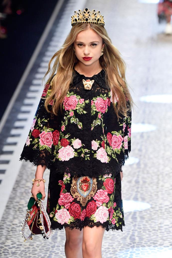 Lady Amelia Windsor, Dolce & Gabbana autumn/winter '17