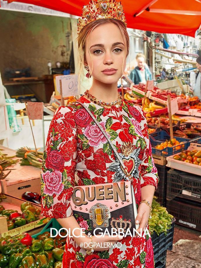 Lady Amelia Windsor, Dolce & Gabbana campaign