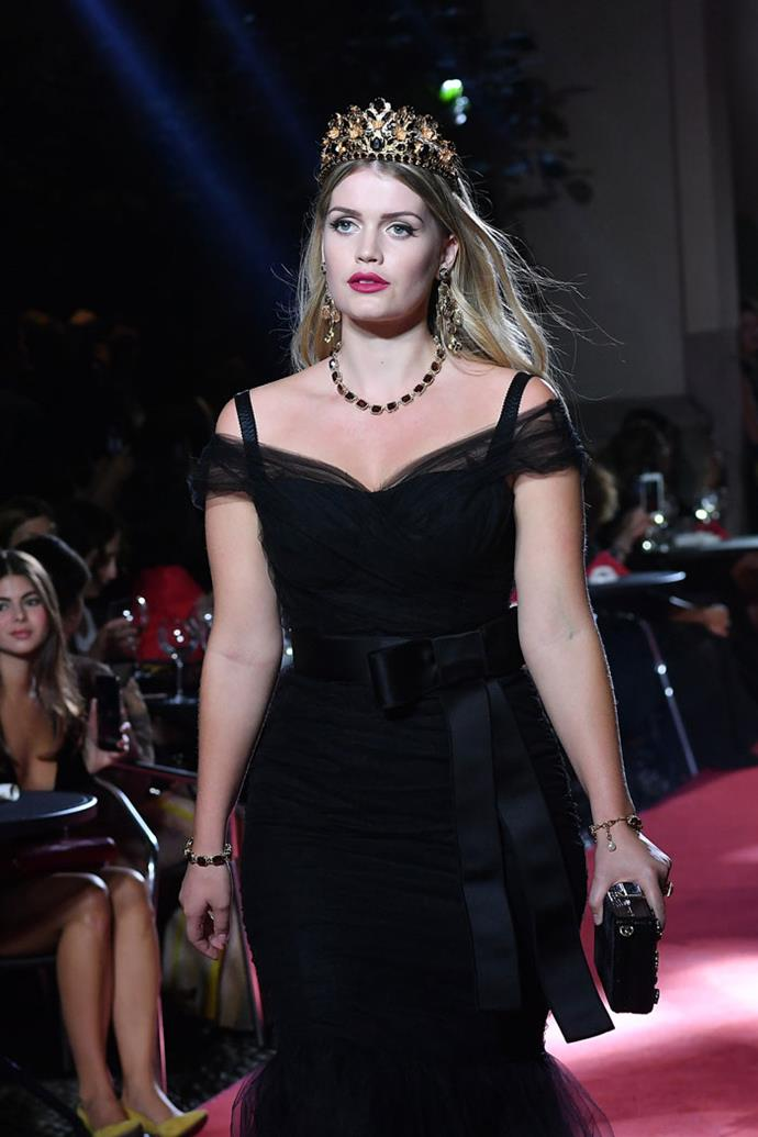 Lady Kitty Spencer, Dolce & Gabbana spring/summer '18