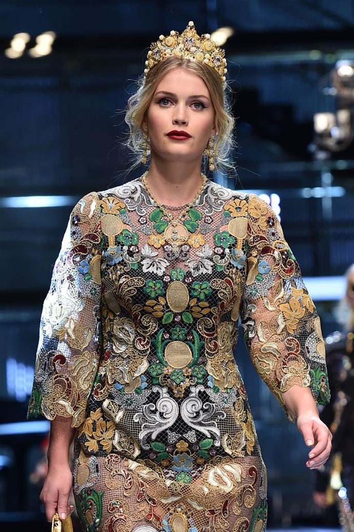 Lady Kitty Spencer, Dolce & Gabbana autumn/winter '17