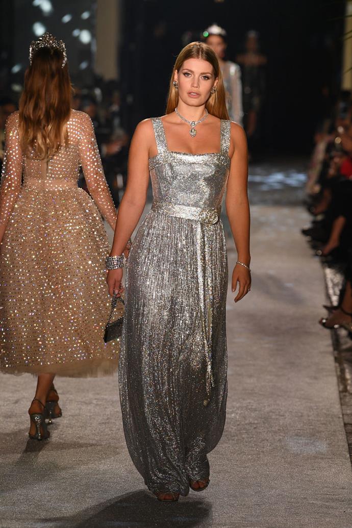 Lady Kitty Spencer, Dolce & Gabbana autumn/winter '18