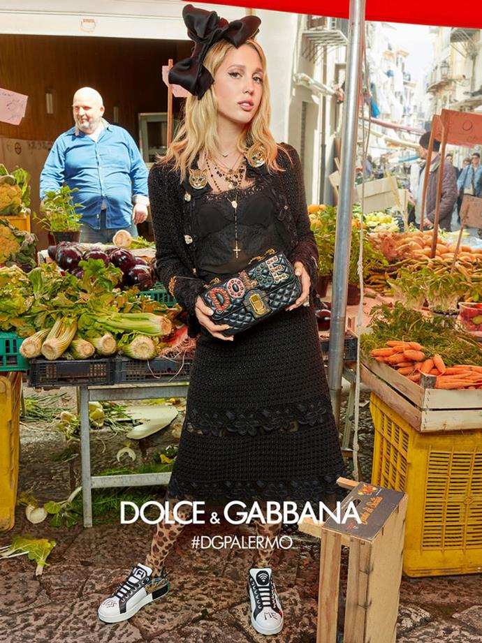 Princess Maria-Olympia of Greece and Denmark, Dolce & Gabbana campaign