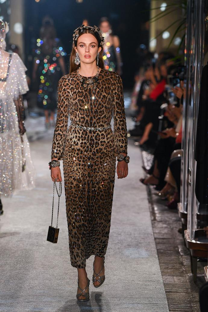 Lady Violet Manners (the oldest of the Duke and Duchess of Rutland's three daughters), Dolce & Gabbana autumn/winter '18