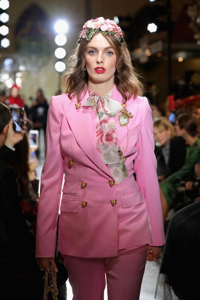 Lady Violet Manners, Dolce & Gabbana spring/summer '18