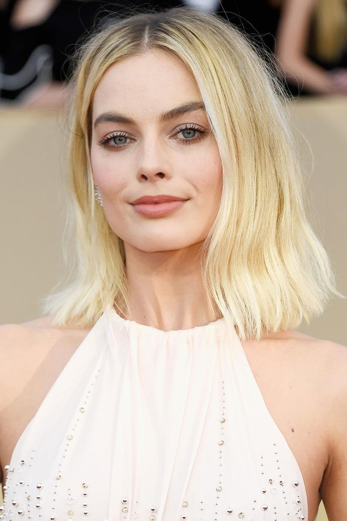 Margot marks her return to cool blonde tones at this year's SAG Awards.