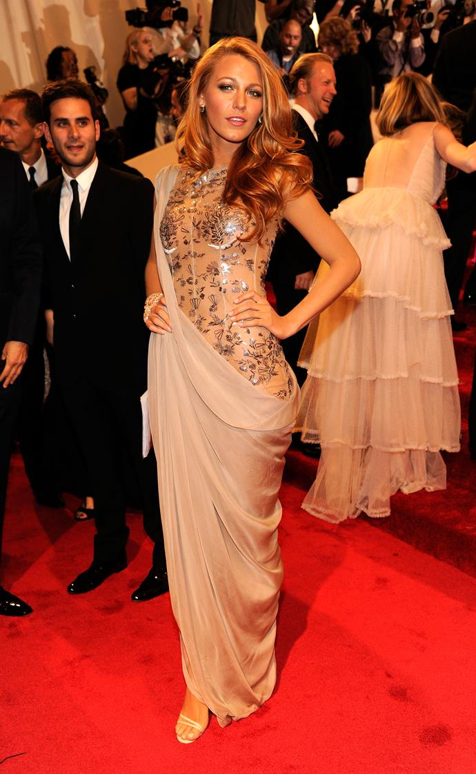 In Chanel at the 2011 Met Gala