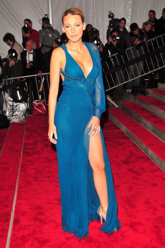 In Versace at the 2009 Met Gala