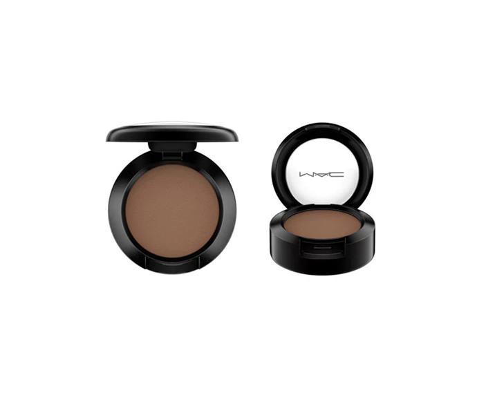 "Achieve the look with: M.A.C Espresso eye shadow, $32 at [MAC](https://www.maccosmetics.com.au/product/13840/363/products/makeup/eyes/shadow/eye-shadow#/shade/Espresso|target=""_blank"")"