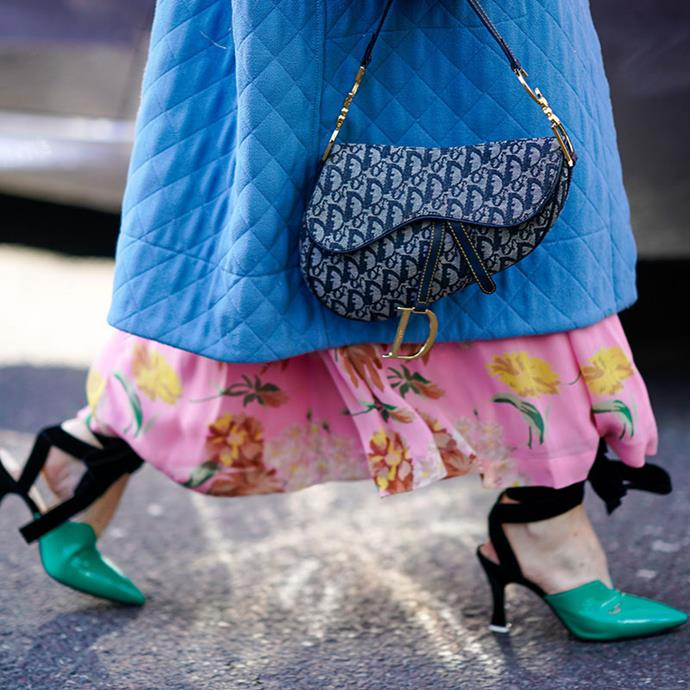 """**Dior: Saddle ** <br><br> """"The Saddle bag makes a great investment as at the moment you can resale for almost 90% of the retail price."""""""