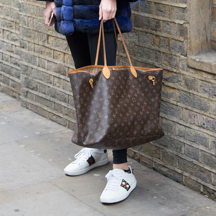 """**Louis Vuitton: Neverfull** <br><br> """"Louis Vuitton test their bags by filling them with a weight of 3.5kg, then dropping them from half a metre to ensure durability, which explain why they hold their value so well, when reselling on Vestiaire you can make almost 80% of your money back."""""""