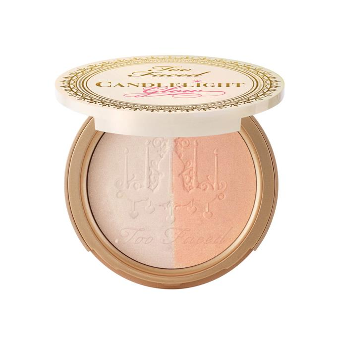 "Too Faced Candlelight Glow, $44 at [Mecca](https://www.mecca.com.au/too-faced/candlelight-glow-rosy-glow/I-023122.html|target=""_blank""