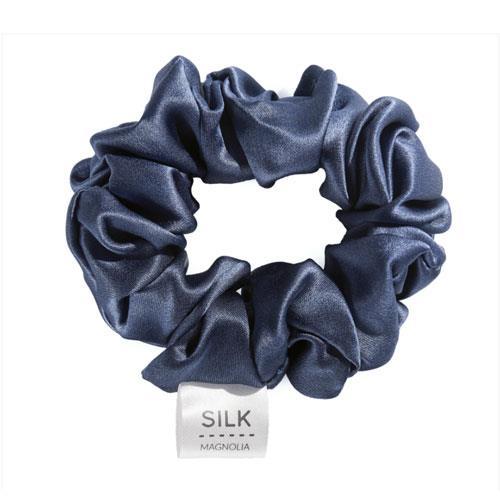 "Silk Scrunchie in Sorrento Blue, $32.95 at [Silk Magnolia](http://www.silkmagnolia.com.au/silk-scrunchie|target=""_blank"")."