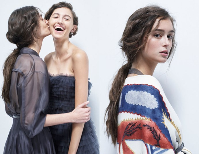 Whimsical Pony: Dior's messy-yet-elegant ponytail is the effortless version of the standard up-do. With whispy free-flowing strands, it's the ultimate in femininity.