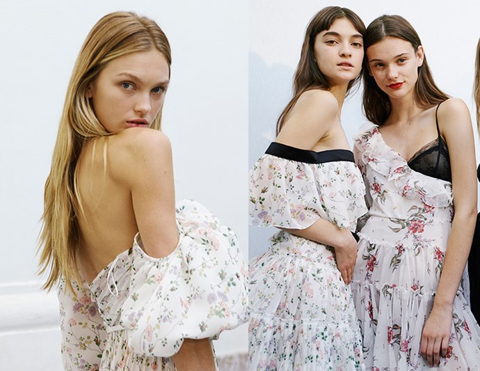 Rich Girl Hair: Giambattista Valli's couture models sported rich and gleaming hair with a very a slight curl. It's the kind of tresses that seem to come naturally to socialites and models. For a minimalist approach to evening hair, you can't get much better.