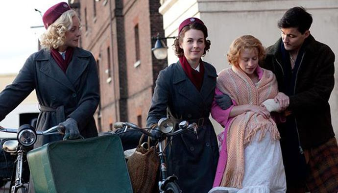 **7. Call The Midwife** <br><br> Set in East London in the late 1950s/early 1960s, *Call The Midwife* is different to the other period dramas so far as it's based off the real life account of Jennifer Worth, an East London nurse from back in the day. Also one of the main characters, called Trixie, is known for her impeccable style, so there's that too.